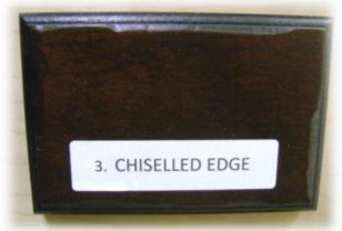 chiseled edge distressing element