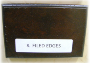 filed edges distressing element