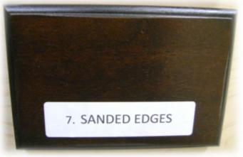 sanded edges distressing element