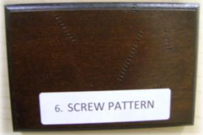 screw pattern distressing element