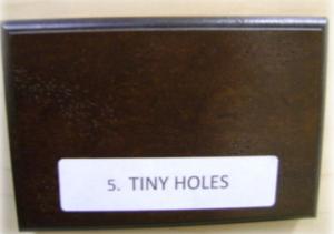 tiny holes distressing element