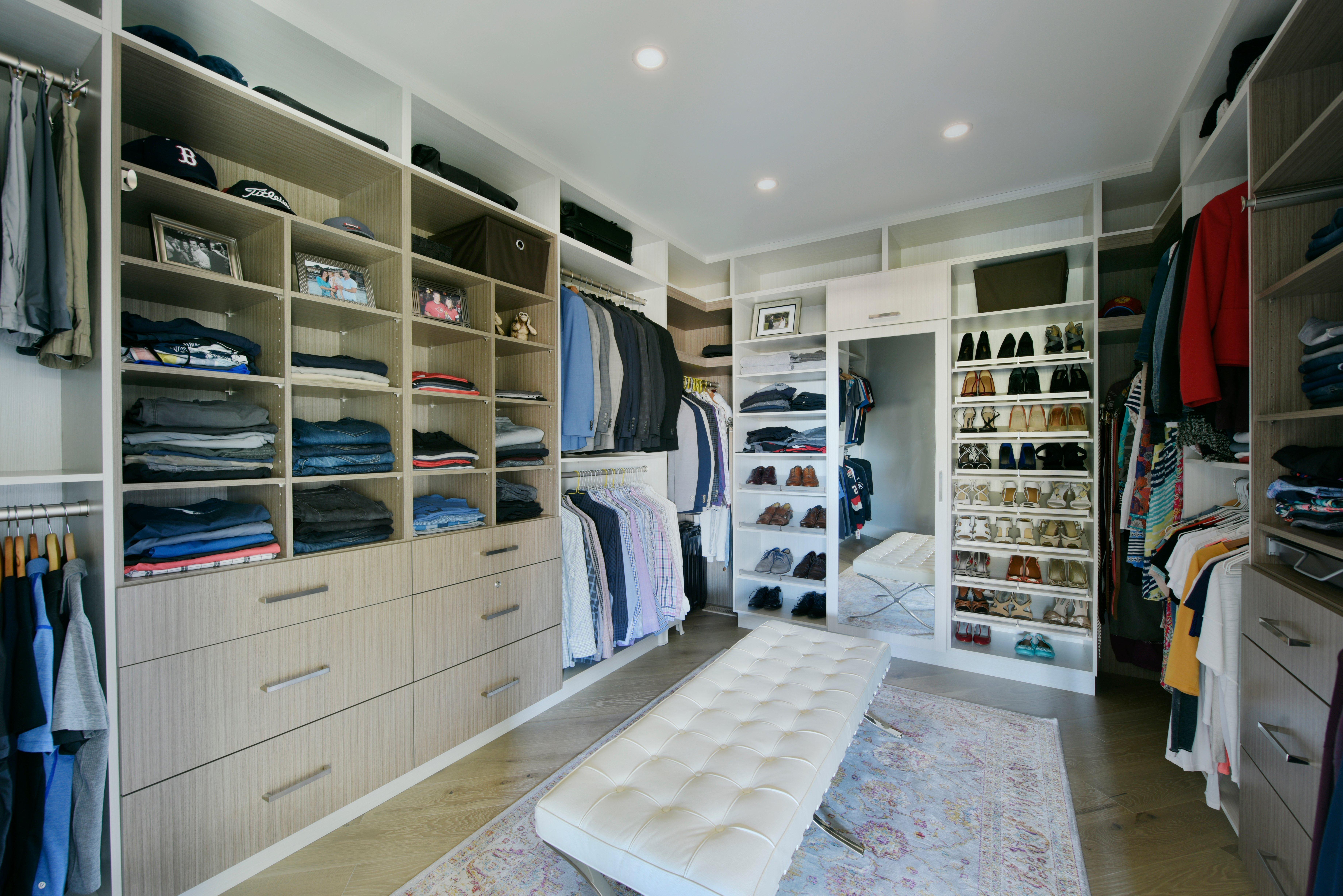 A large custom closet design
