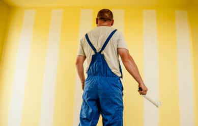 A painter preparing to work.
