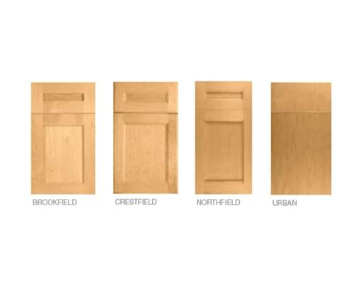 Deslaurier's standard door styles.