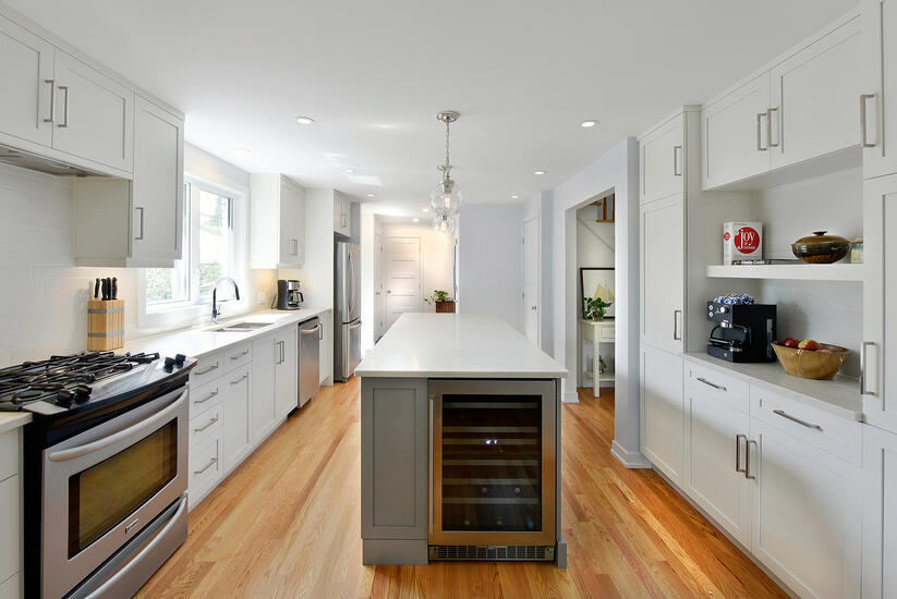 A kitchen featuring Deslaurier custom cabinets