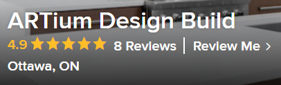 A snapshot of ARTium's Houzz reviews.