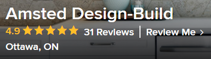 A snapshot of Amsted Design-Build's Houzz reviews.