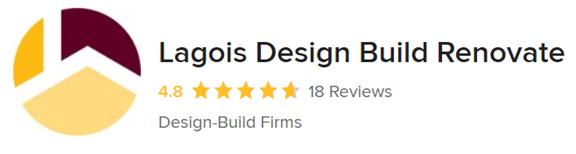 A snapshot of Lagois Design Build Renovate's Houzz reviews.