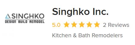 A snapshot of Singhko Inc.'s Houzz reviews.