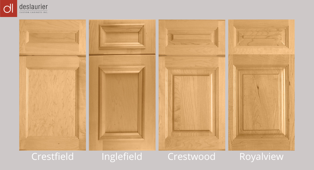 Four of Deslaurier's traditional cabinet door styles.