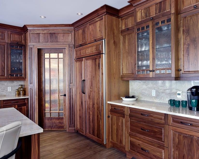 An overlay fridge