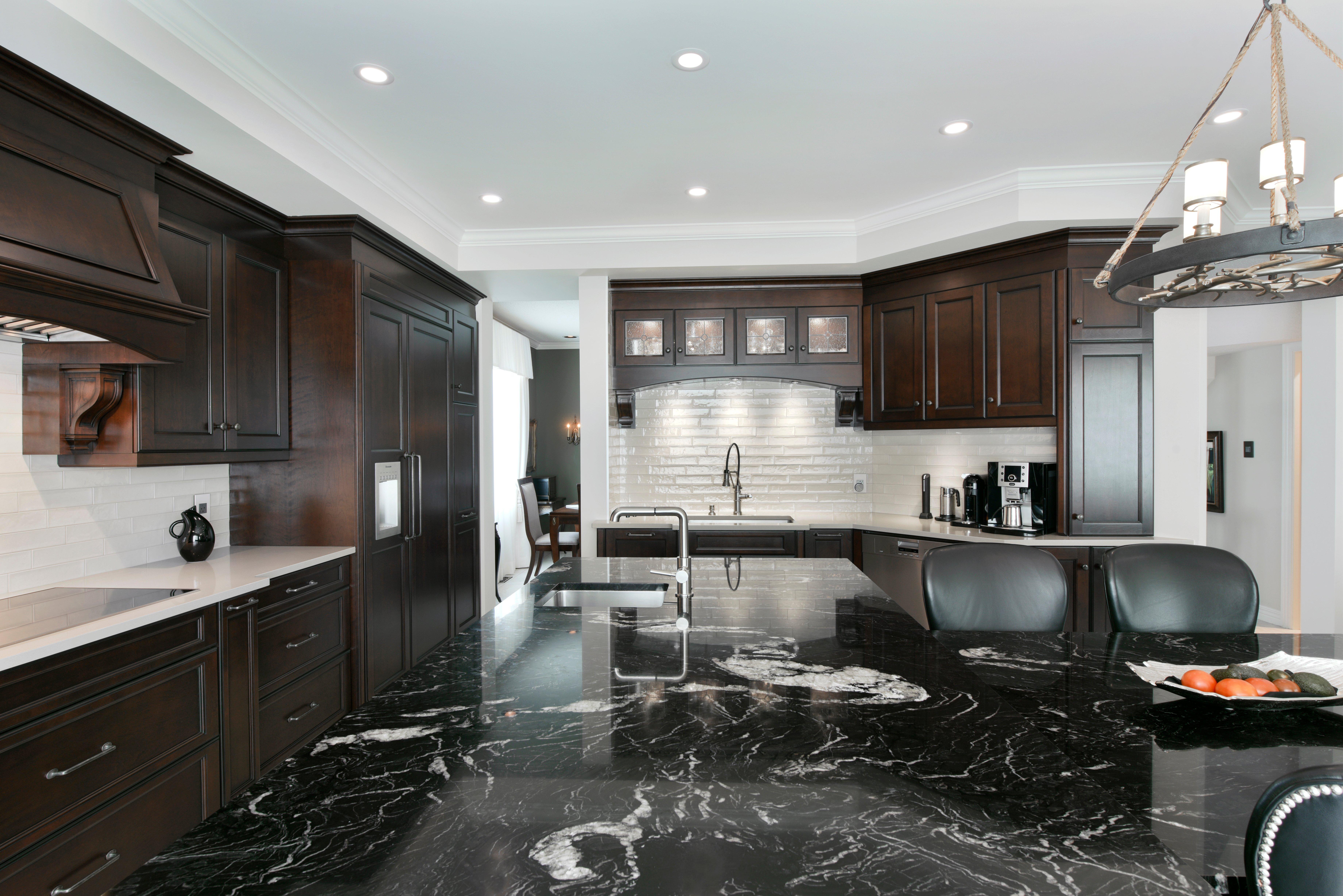 A luxurious granite countertop