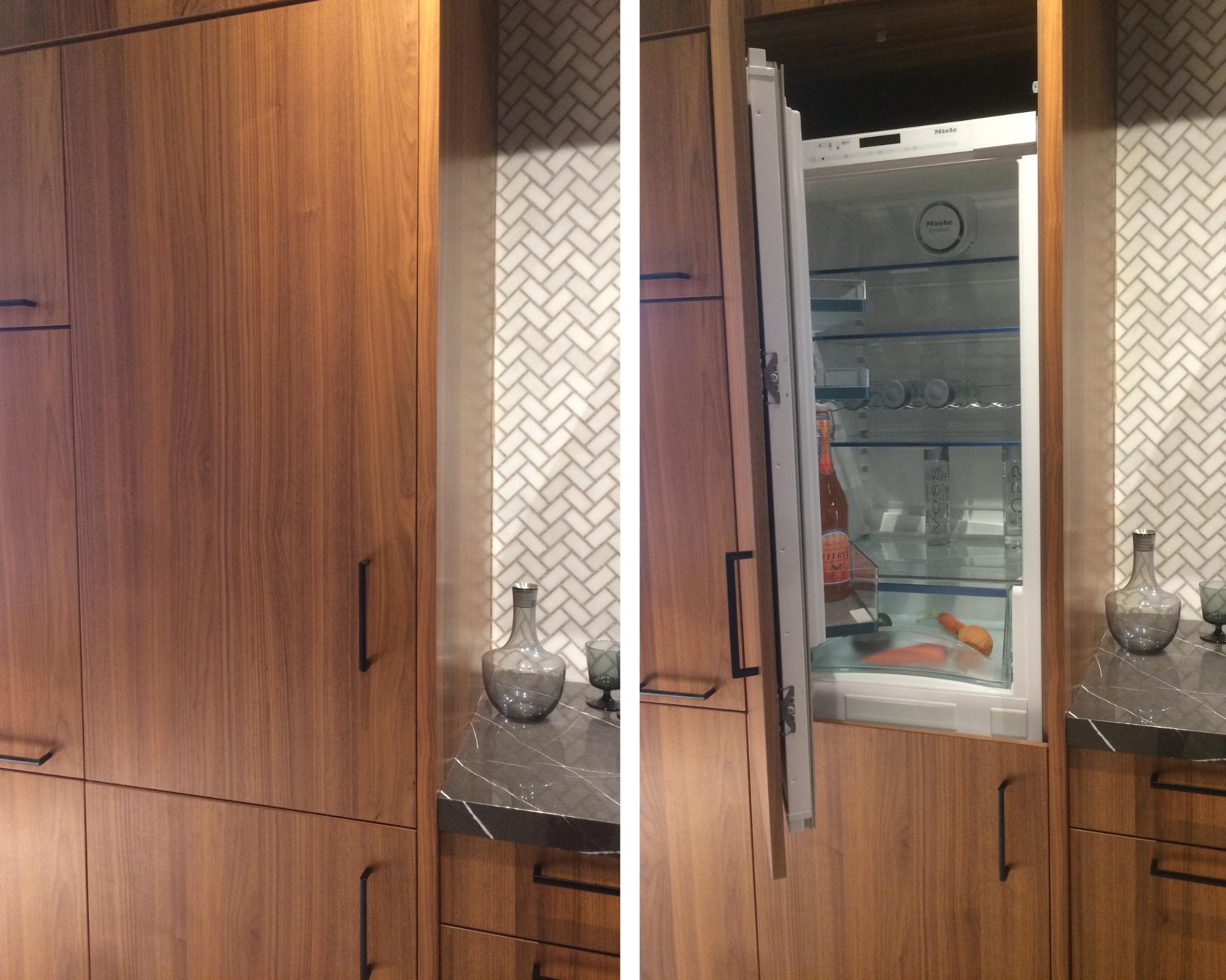 An integrated fridge