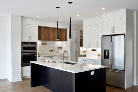 An original kitchen design by Deslaurier.