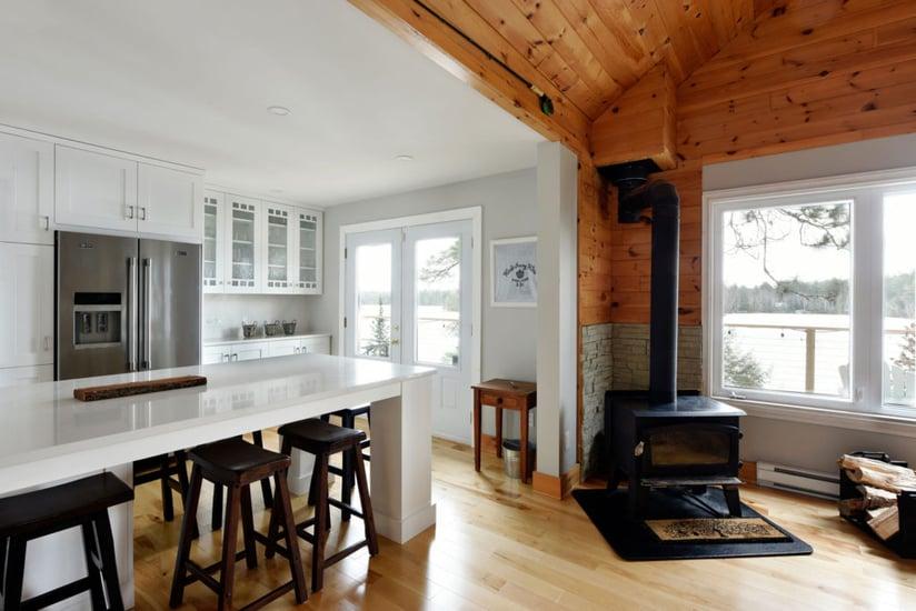 A kitchen design featuring shiplap.