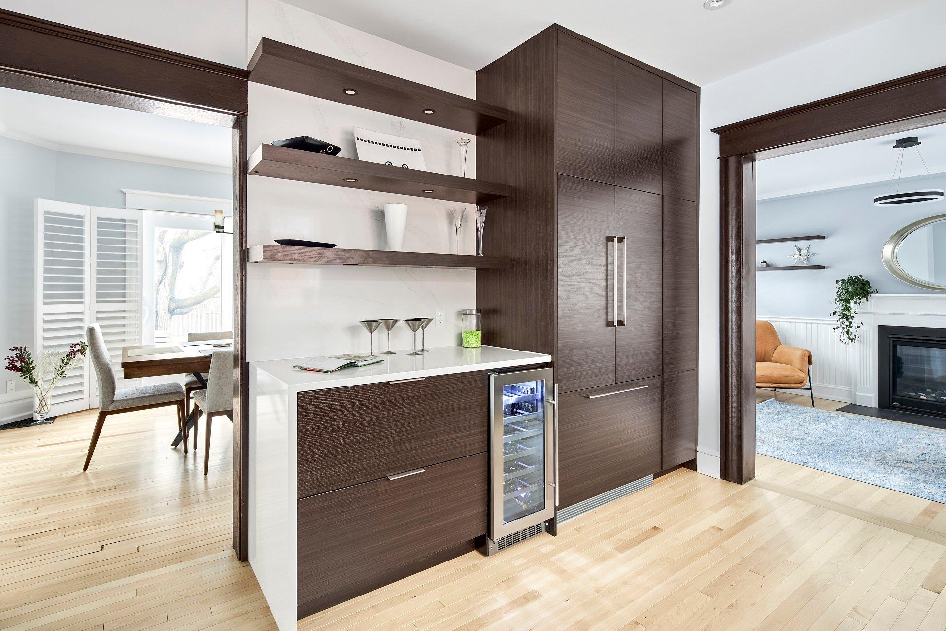 A modern design with an open floor plan