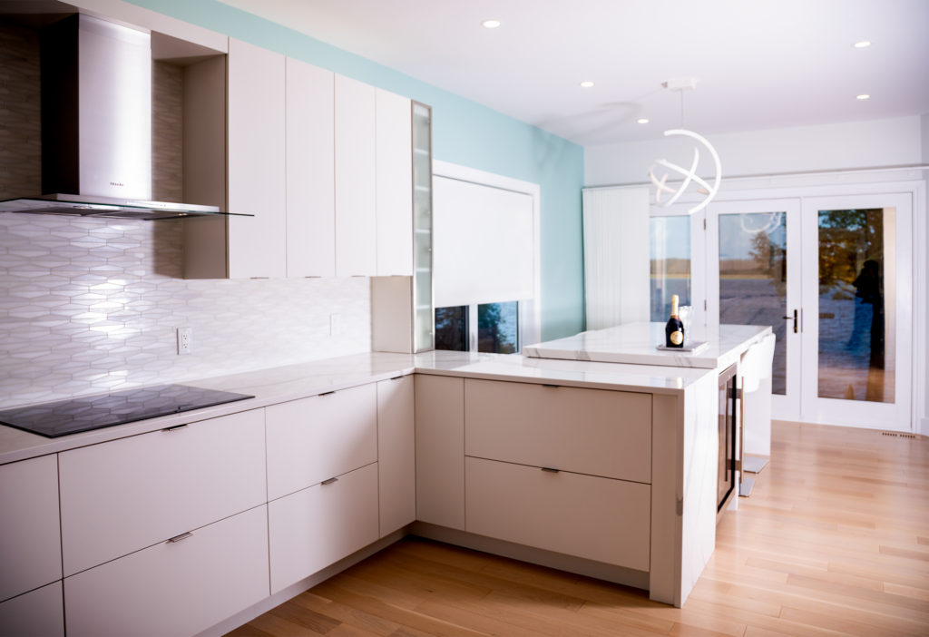 A custom cabinetry system