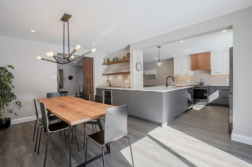A wholly custom kitchen design by a Deslaurier designer.