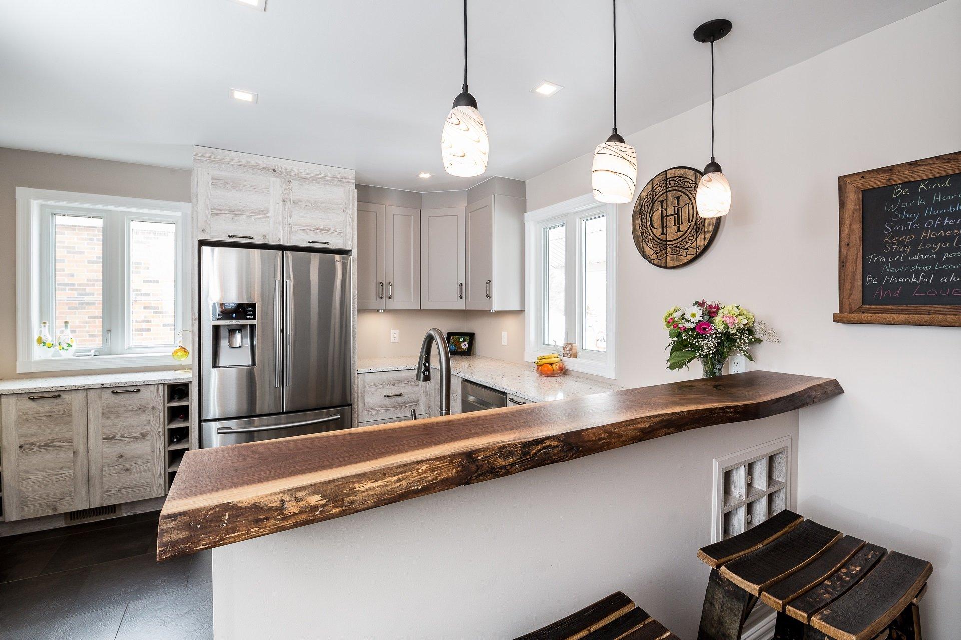 A unique kitchen design by Deslaurier.