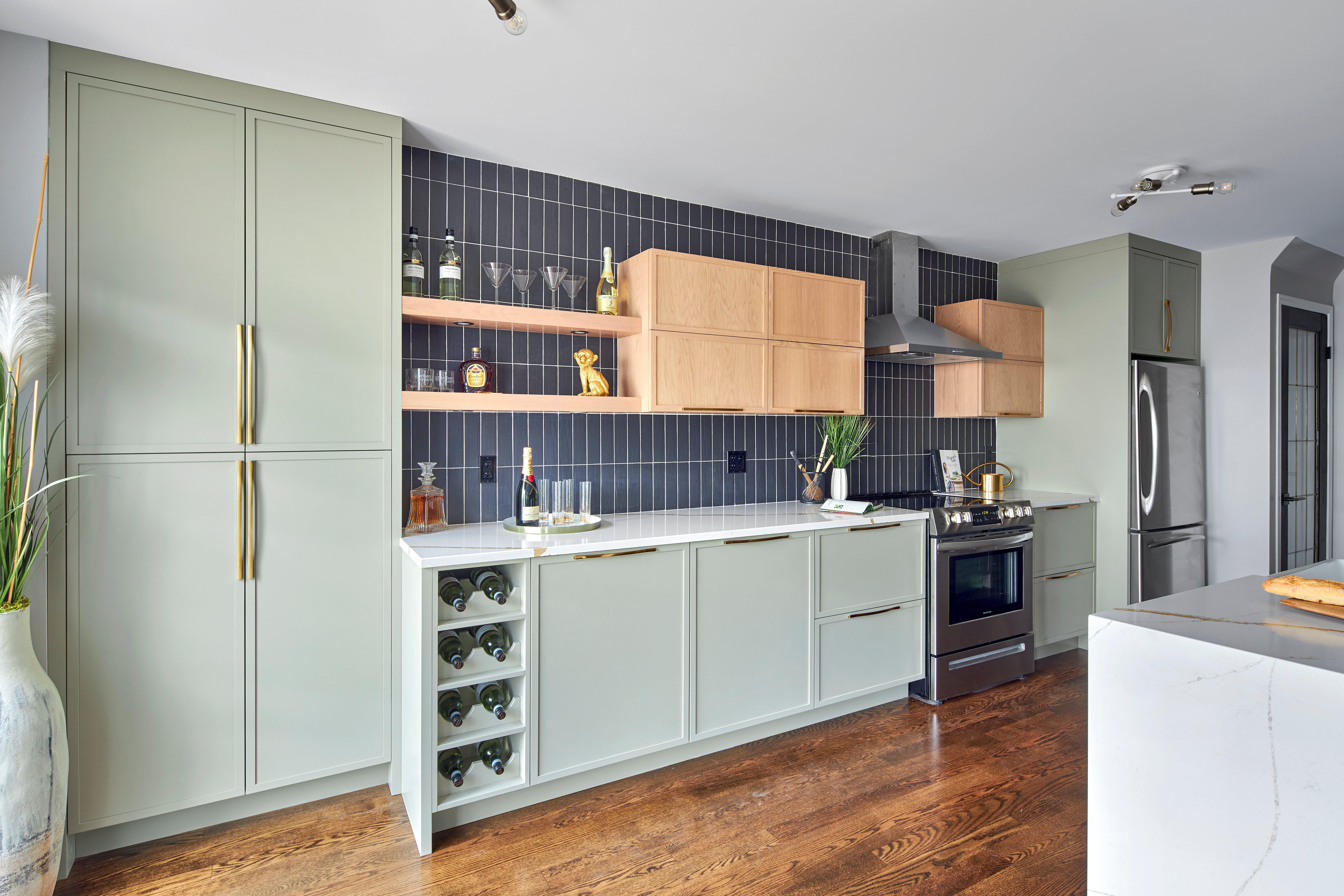 Deslaurier's Sassy Sage kitchen design.