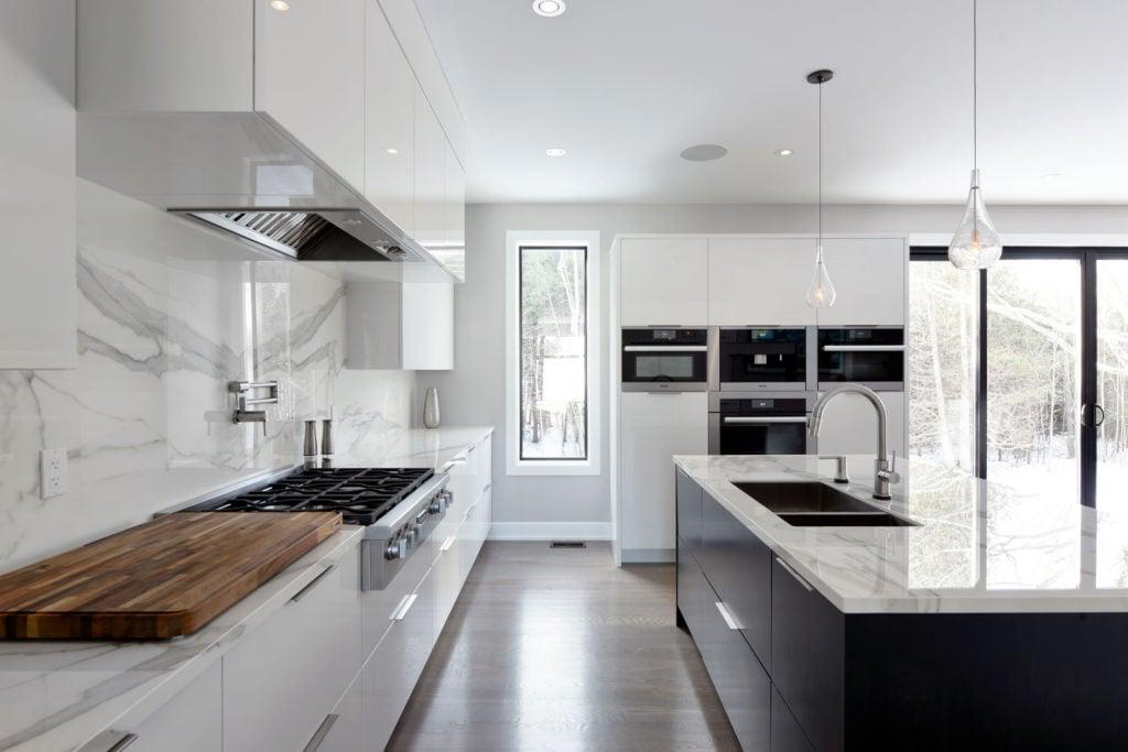 A kitchen design by Deslaurier