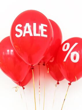 Red sale balloons.